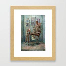 Visiting Grandpa Framed Art Print