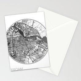 Amsterdam Map Universe Stationery Cards