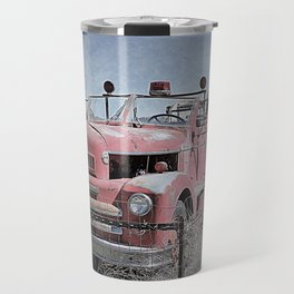 Vintage Fire Truck Travel Mug