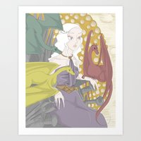daenerys Art Prints featuring Daenerys (2013) by mothroot