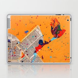 Letter Trail by Nadia J Art Laptop & iPad Skin