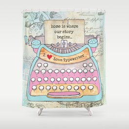 Typewriter #6 Shower Curtain