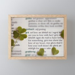 Love in Irish Framed Mini Art Print