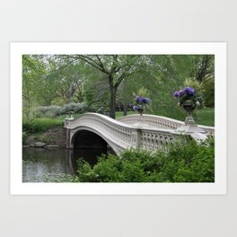 Bow Bridge Central Park New York Art Print