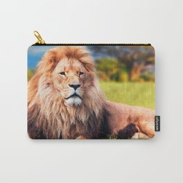 Gorgeous Gracious Grown Masculine Animal Resting On Grass Close Up UHD Carry-All Pouch