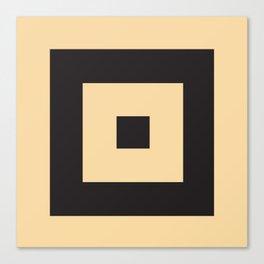 beige et noir Canvas Print