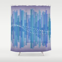 Blasting Waves Shower Curtain