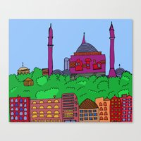 istanbul Canvas Prints featuring Istanbul by andy_panda_