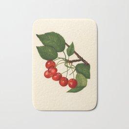Vintage Illustration of a Cherries Bath Mat