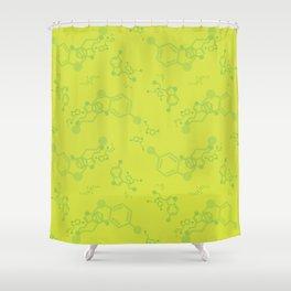 serotonin leaves Shower Curtain