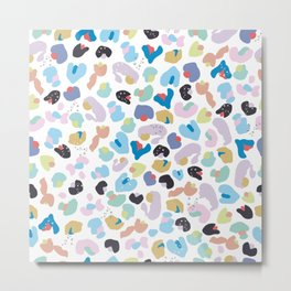 Colorful Baby Leopard Pattern. Seamless Colorful Kids Wallpaper Pattern Metal Print