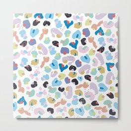 Colorful Baby Leopard Pattern. Seamless Colorful Kids Wallpaper Pattern Metal Print