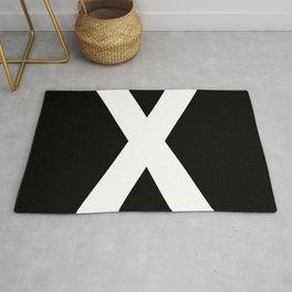 Letter X (White & Black) Rug