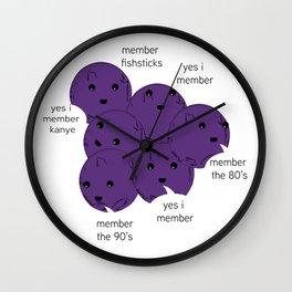 Member Berries Remember Wall Clock