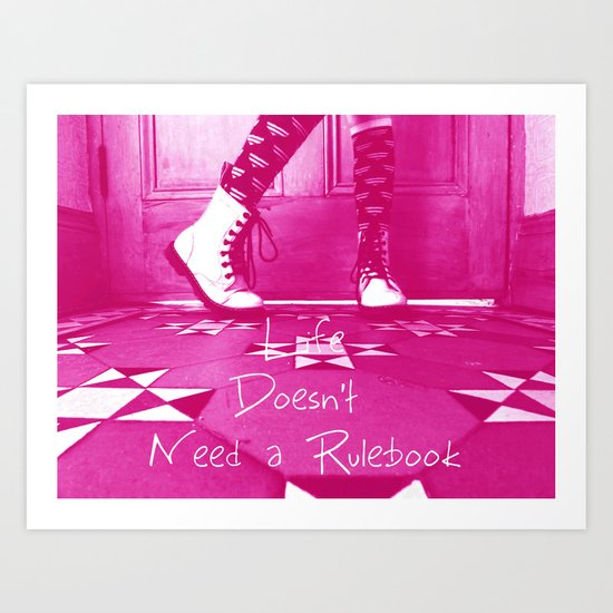 Teenage Kicks, slogans for girls  Art Print