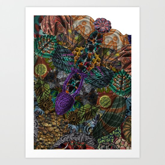 Psychedelic Botanical 12 Art Print