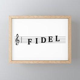 Name Fidel Framed Mini Art Print