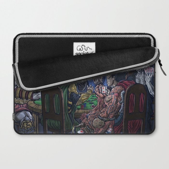 Gods Playing Poker Laptop Sleeve