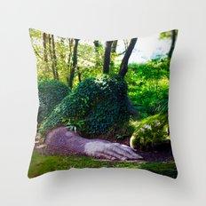 Heligan giant Throw Pillow