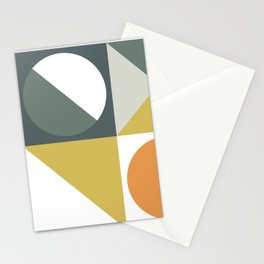 Mid Century Geometric 01 Stationery Cards
