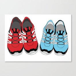 Sporty Shoe Love Canvas Print
