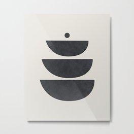 Mid Century Abstract Circles Print Metal Print