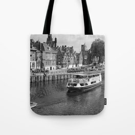 King's Staith beside the river Ouse Tote Bag