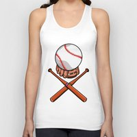 baseball Tank Tops featuring Baseball by mailboxdisco