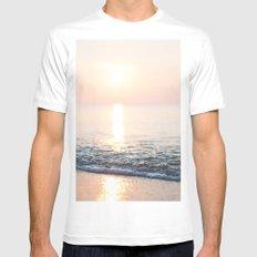 Calm Ocean -ocean, waves, sun, pastel White Mens Fitted Tee MEDIUM