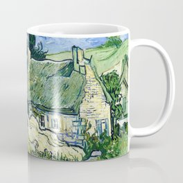 Vincent van Gogh - Thatched Cottages At Cordeville - Digital Remastered Edition Coffee Mug