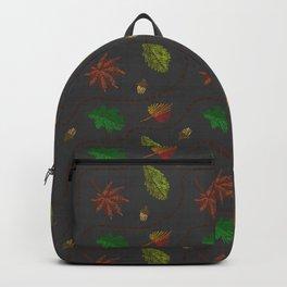 Fall Leaves on Linen Backpack