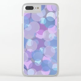 Pastel Pink and Blue Balls Clear iPhone Case