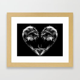 Frond Heart Framed Art Print