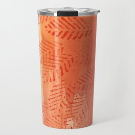 Tomato red abstract painting Travel Mug