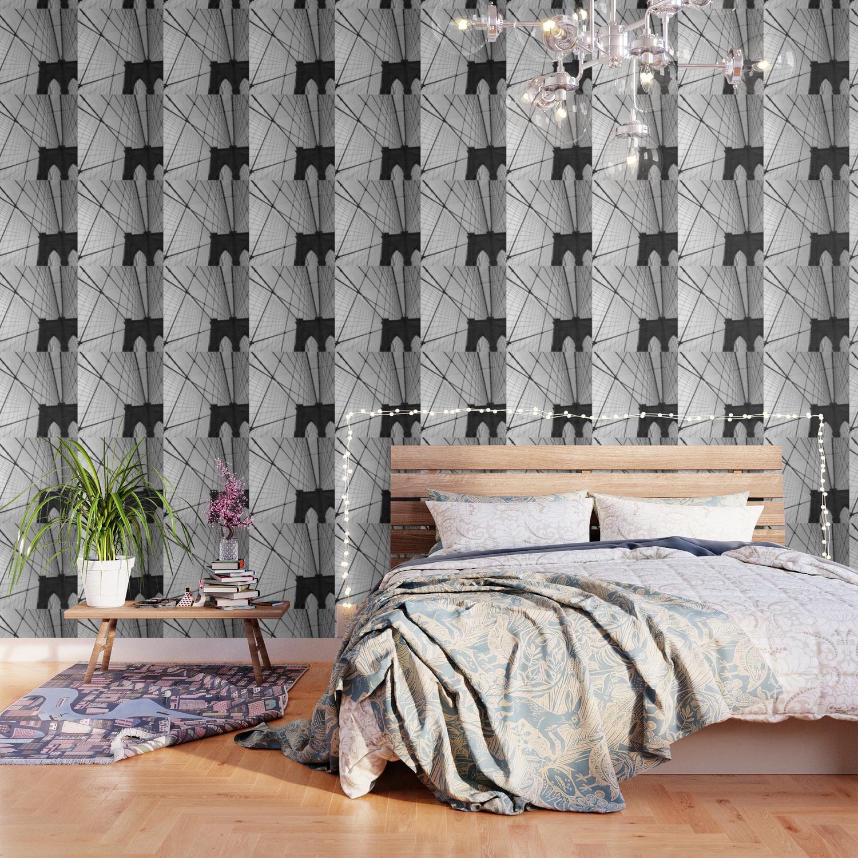 Brooklyn Bridge Black And White Wallpaper By Newyorkcityart Society6