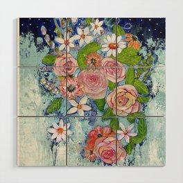 Celestial Sky Flower Garden Wood Wall Art
