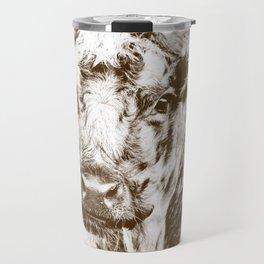Ardnamurchan Coo - Brown Travel Mug