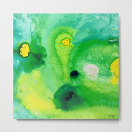 Green Abstract Art - Life Pools - By Sharon Cummings Metal Print