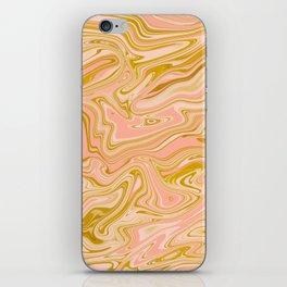 Gold Caramel Pastel Pink iPhone Skin