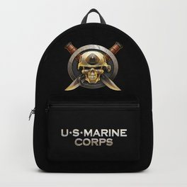 Military badge with marine skull Backpack