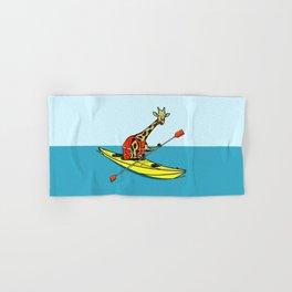Giraffe Sea Kayaking Hand & Bath Towel