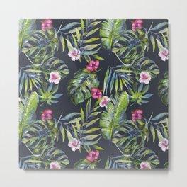 Palm Leaves Pattern 3 Metal Print