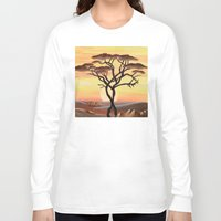 africa Long Sleeve T-shirts featuring Africa by ArT RefugiuM