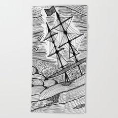 capsized Beach Towel