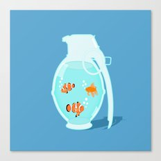 Fish Grenade Canvas Print