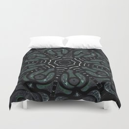 Dark Mandala #4 Duvet Cover