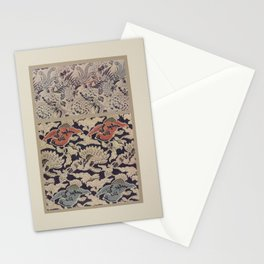 Verneuil - Japanese paper and fabric designs (1913) - 15: Birds and peonies Stationery Cards