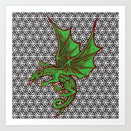 DRAGON MAZE Art Print