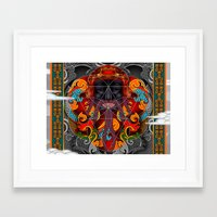 sacred geometry Framed Art Prints featuring Sacred Geometry by Robin Curtiss