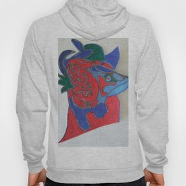 Red horse abstract modern paitings by Christian T. Hoody